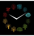 Seasons concept trees on watches sketch for your vector image vector image