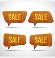 set of wooden sign speech bubbles vector image vector image