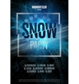 Snow Party Flyer Abstract Winter Poster