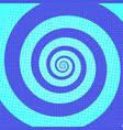 spiral rays pop art retro background vector image