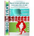 sport event poster soccer vector image