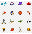 Sports equipment set icons vector image vector image