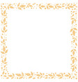 square background with frame of orange leaves vector image vector image