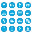 thailand icon blue vector image