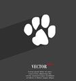 trace dogs icon symbol Flat modern web design with vector image