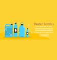 water bottles banner horizontal concept vector image