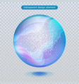 water rain drop isolated on transparent background vector image vector image