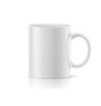 White mug on white vector image vector image