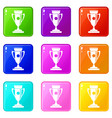 winning cup set 9 vector image vector image