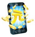 yuan money phone concept vector image vector image