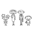 cute doodle family set vector image