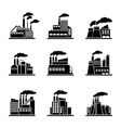 Factory and industrial building icons vector image
