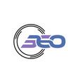 360 figure technology logo vector image