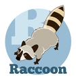 ABC Cartoon Raccoon2 vector image vector image