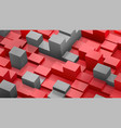 abstract background cubes and parallelepipeds vector image