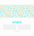 arthritis concept with thin line icons vector image vector image