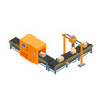 automated factory 3d isometric view isolated on a vector image vector image