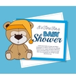Baby shower invitation with cute animal