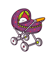 Baby stroller bright children isolated on w vector image vector image
