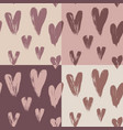 beautiful seamless pattern hearts vector image vector image