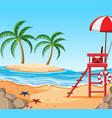 beautiful tropical beach island vector image vector image