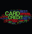 best credit cards text background word cloud vector image vector image