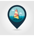 Board Windsurfing pin map icon Summer Vacation vector image vector image