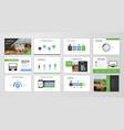 brochure layout design template set vector image vector image