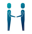 business men hands shake teamwork vector image