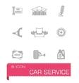 car device icon set vector image vector image