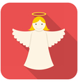 Christmas angel icon vector image vector image