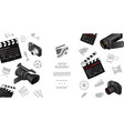 cinematography elements template vector image vector image