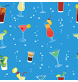 Cocktail party blue seamless pattern vector image
