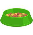 colorful cartoon pet food bowl vector image vector image