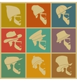 colorful Icons man in a headdress vector image vector image