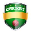 Cricket Shield badge vector image vector image