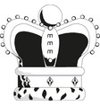 crown icon in trendyisolated on white vector image vector image