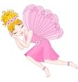 Cute fairy in pink dress is sleeping eps 10 vector image vector image