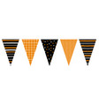 cute hand drawn design bunting flags vector image