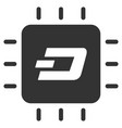 dash processor chip flat icon vector image