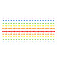exit arrow shape halftone spectrum grid vector image