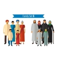 Family icons set Traditional culture national vector image vector image