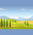fields and meadows colorful rural landscape vector image vector image