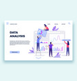 finance analyst landing page stock market vector image