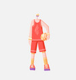 flat sportsman in sport red vector image
