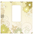 floral triptych vector image vector image