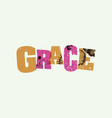grace concept stamped word art vector image vector image