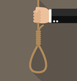 Hand with rope hanging loop vector image vector image