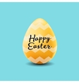 happy easter poster realistic yellow egg vector image