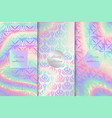 holographic backs collection vector image vector image